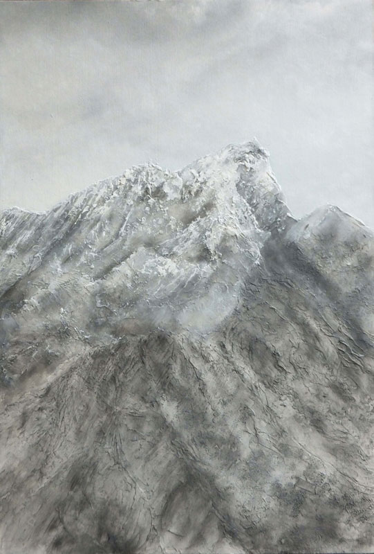 Textured snowy mountain- Stage 3