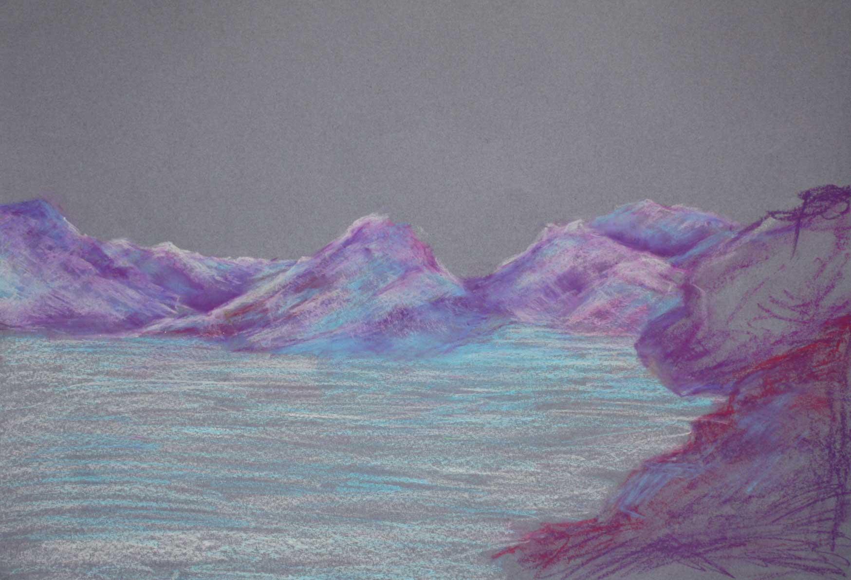 oil-pastels-mountain